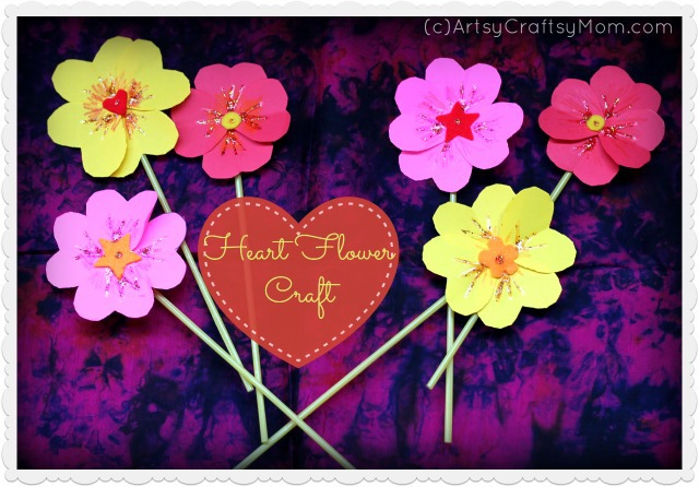 heart flower craft