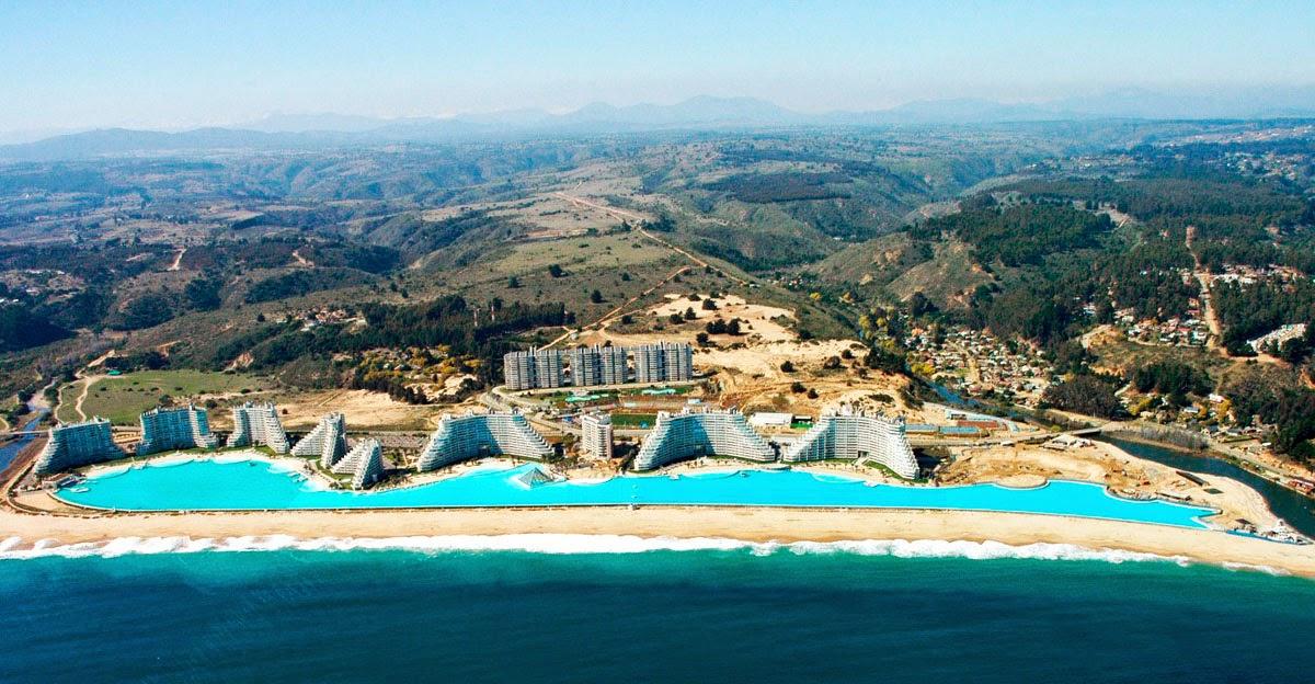 5 piscinas impressionantes pelo mundo janela do horizonte for Piscina chile