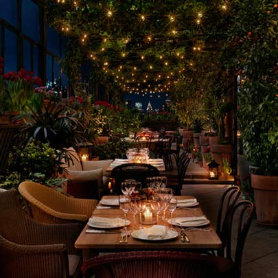 Luxury hotels best hotel restaurant views for Terrace hotel restaurant