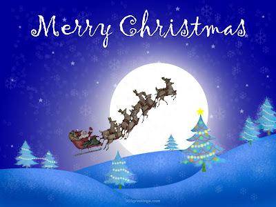 merry christmas moon image 2016