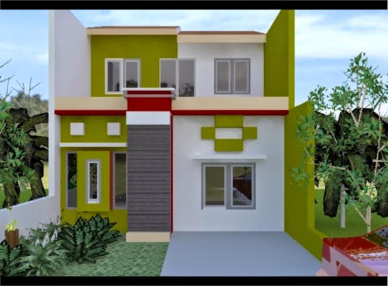 kombinasi cat rumah warna orange dan putih desain rumah