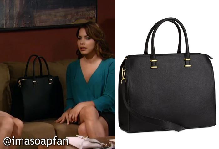 9f419f0311eaf0 Rosalie Martinez s Black Handbag - General Hospital