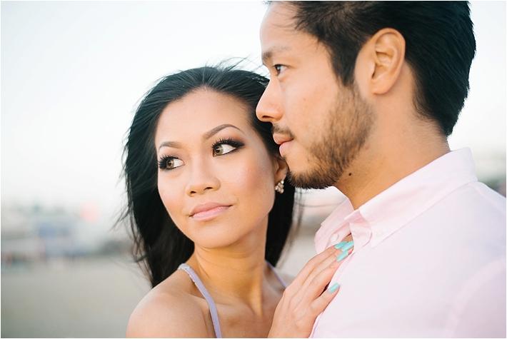 Gorgeous Stylish Santa Monica Engagement Session   Jenna Bechtholt Photography