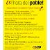 Anunci d'actes del Grup de Suport a la CUP-Alternativa d'Esquerres de Barberà del Vallès