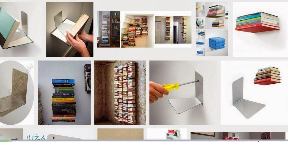 Gadżety mola książkowego: niewidzialna półka na książki