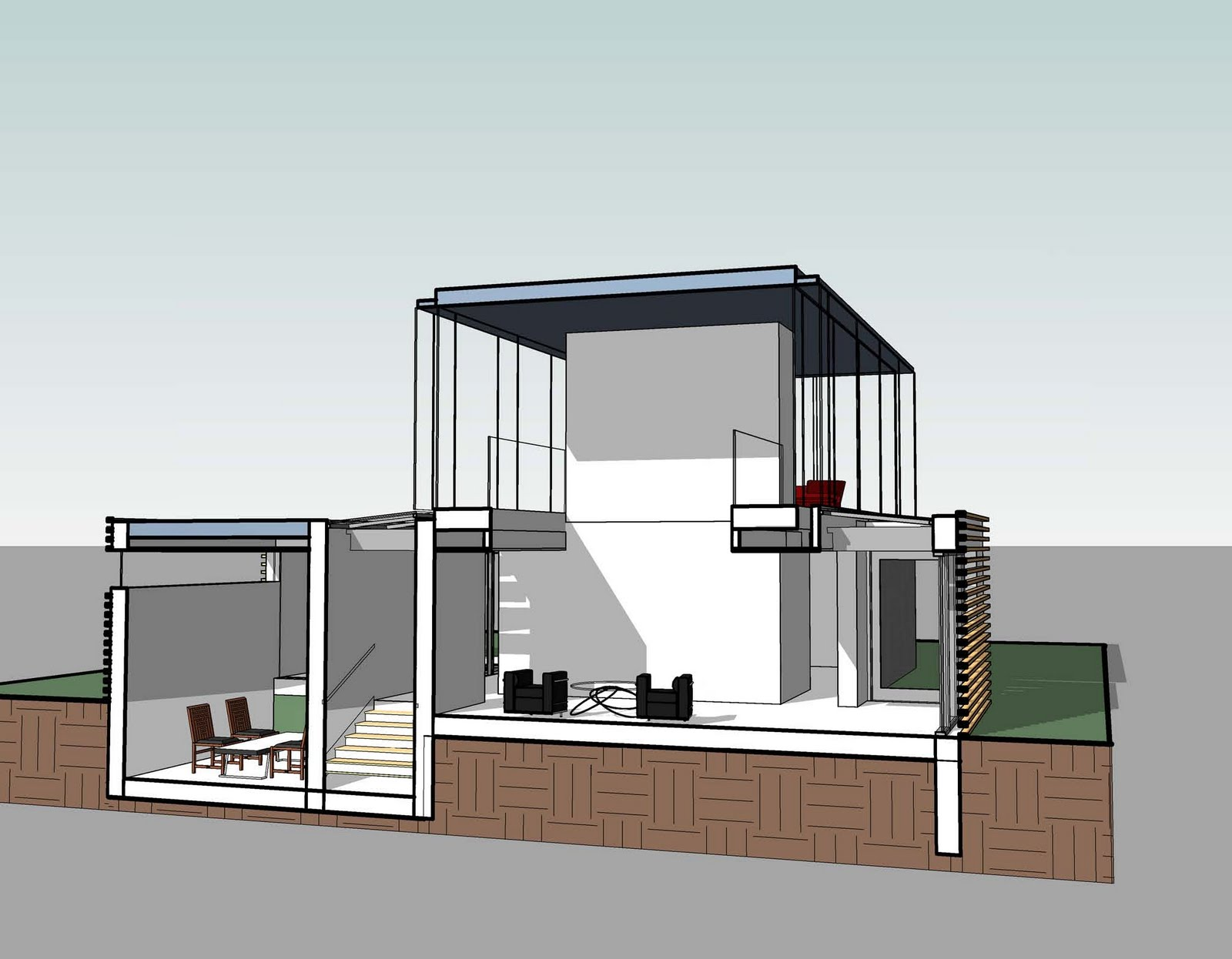 Revit detail 13 7 modern house toposurface for Revit architecture modern house design