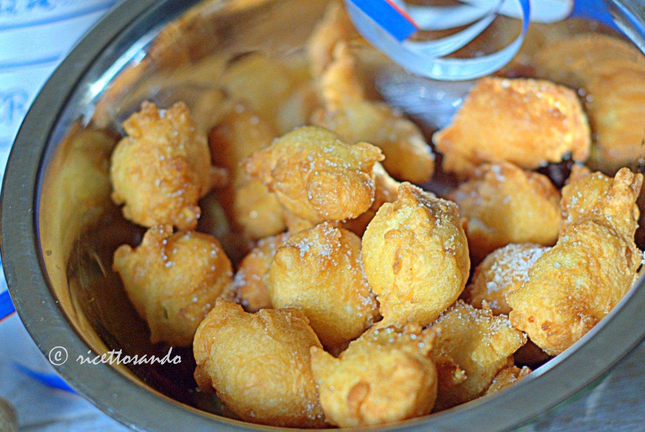 ricetta dei dolci frittelle tipiche per il carnevale