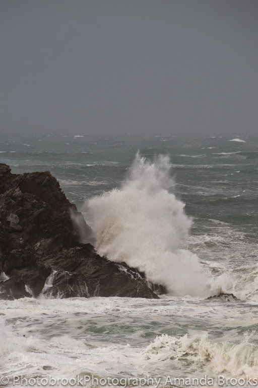 Giant storm waves hit Cornwall