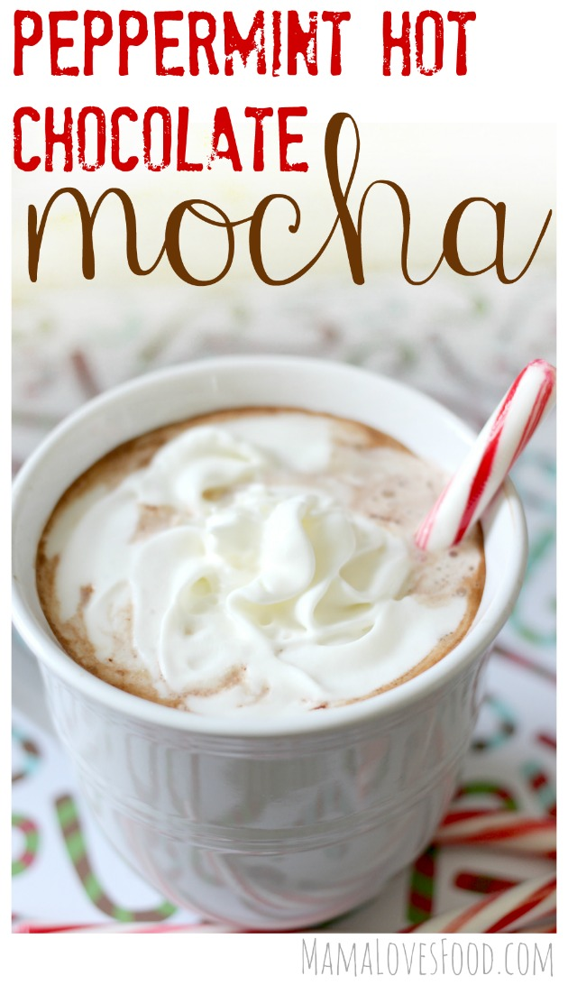 peppermint hot chocolate mocha