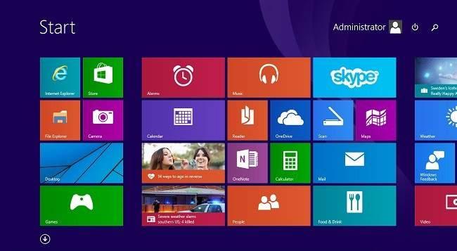 start screen in windows 10