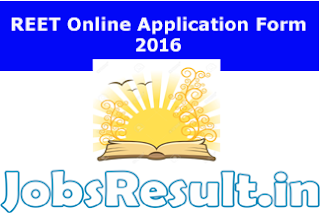 REET Online Application Form 2016