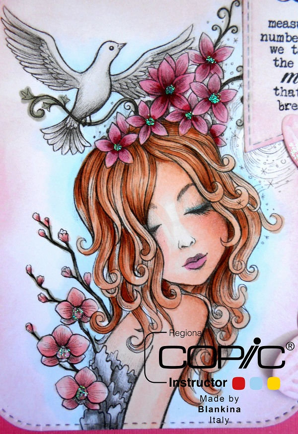 copic italia la ragazza con le orchidee