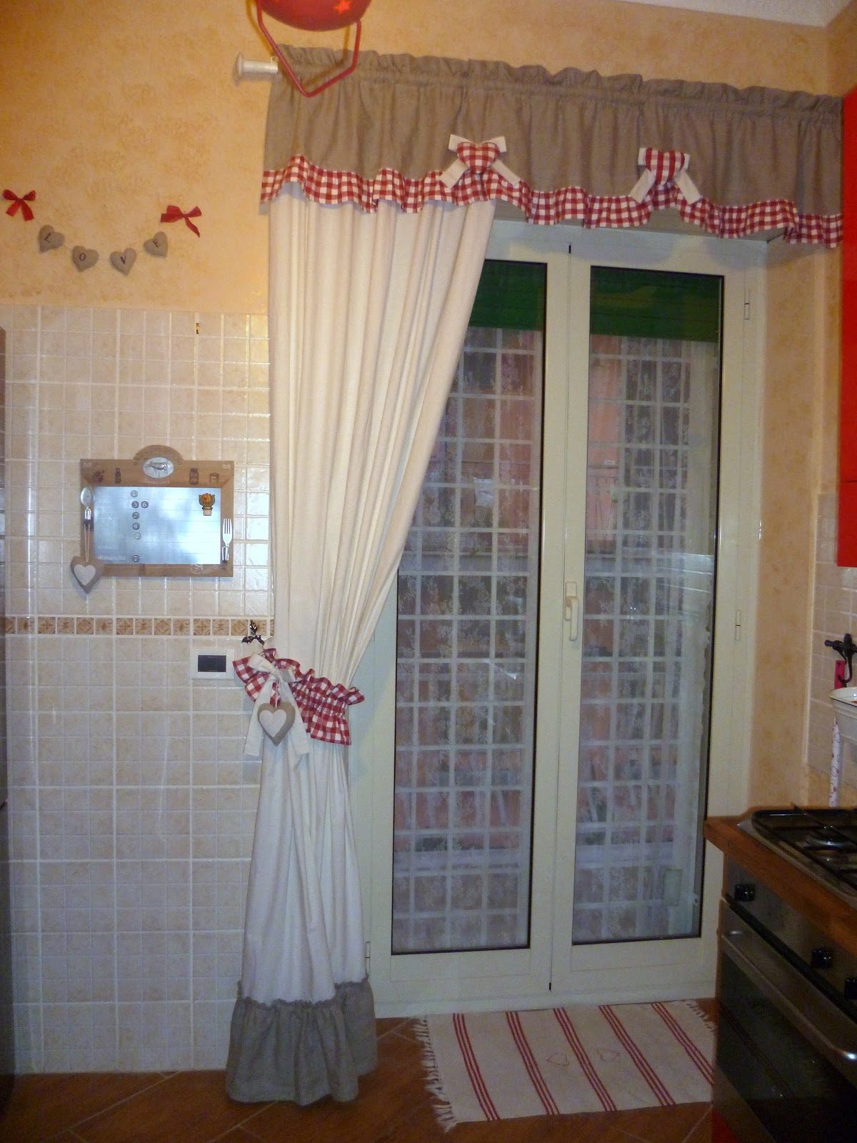 100 love tenda country cucina for Mantovane per tende stile country