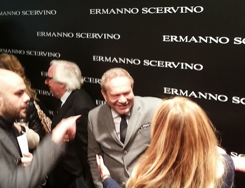 Ermanno Scervino in the backstage after the show
