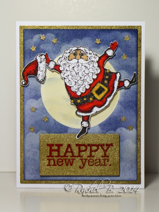 Holidays New Year card santa Impression Obsession