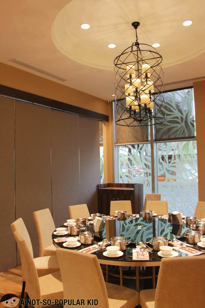 Semi-private rooms for family dining here in Four Seasons