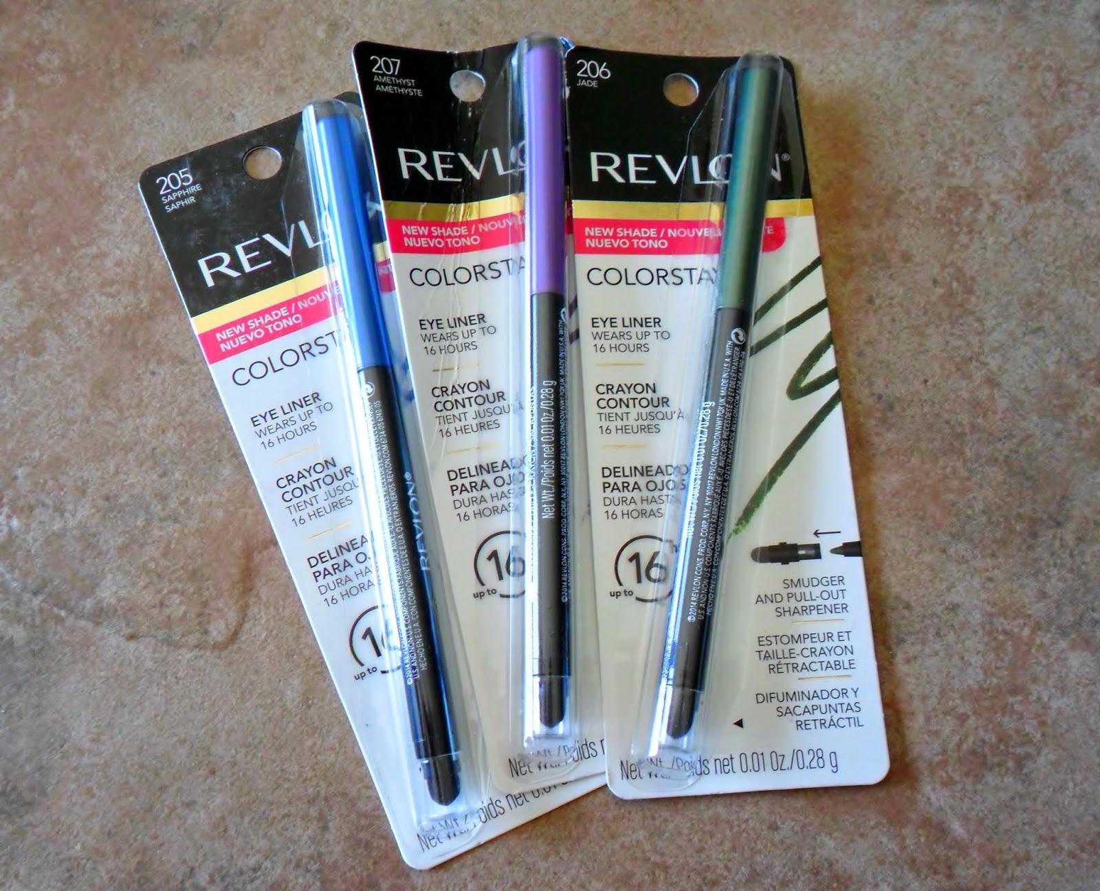 Review: Revlon Colorstay Eyeliner in Amethyst, Jade & Sapphire