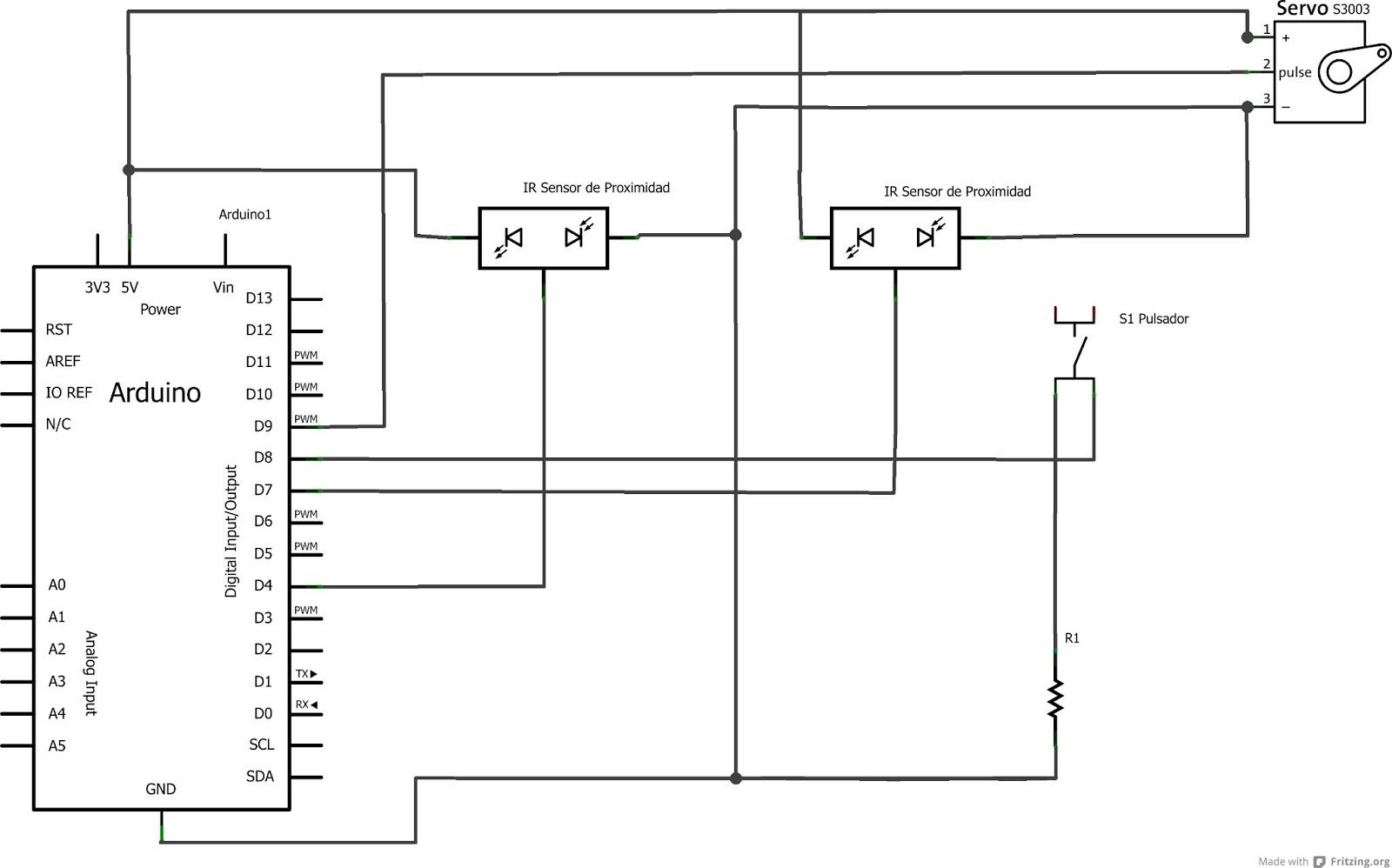 Microcontroladores port n autom tico arduino for Motor porton electrico