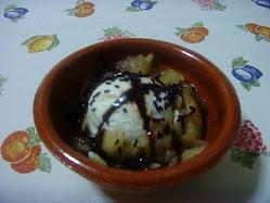 Compota y helado