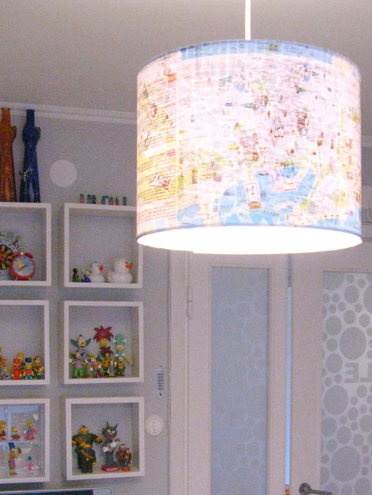 Mad For Mid Century Map Light For A Travel Nursery