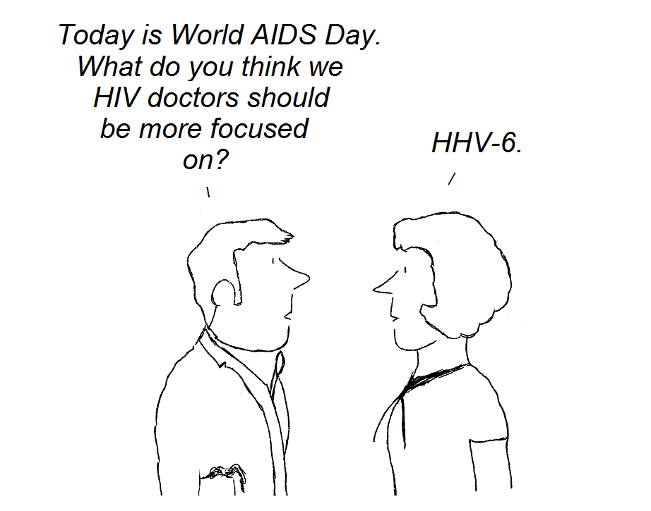 cartoon, AIDS, CFS,