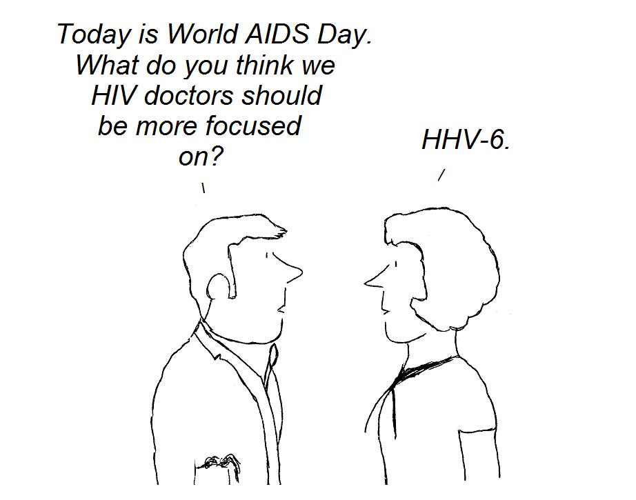 cartoon, AIDS, CFS,