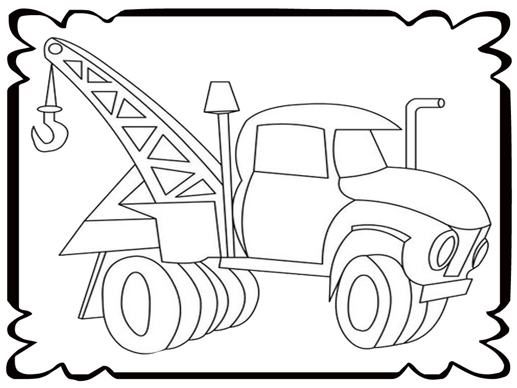 tow truck coloring pages - photo#16