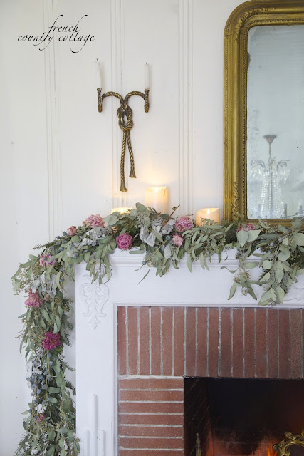 Dried garland for winter
