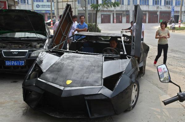 Lamborhigni reventon made in china a partir de un Vw Santana China+Lamborghini+Reventon+2