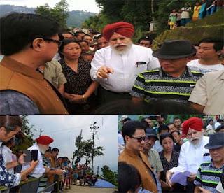 Following Modi directive, Kiren Rijiju,SS Ahluwalia visits kalimpong gumbadara Gitdabling