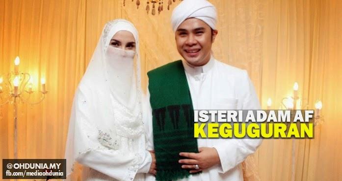 Fiza Halim, Isteri Adam AF alami keguguran selepas hamil 7 minggu