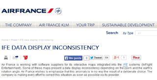 Air France: o desaparecimento de Israel do mapa não foi deliberado