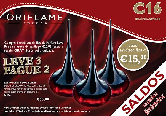 Flyer do Catálogo 16 de 2013 da Oriflame
