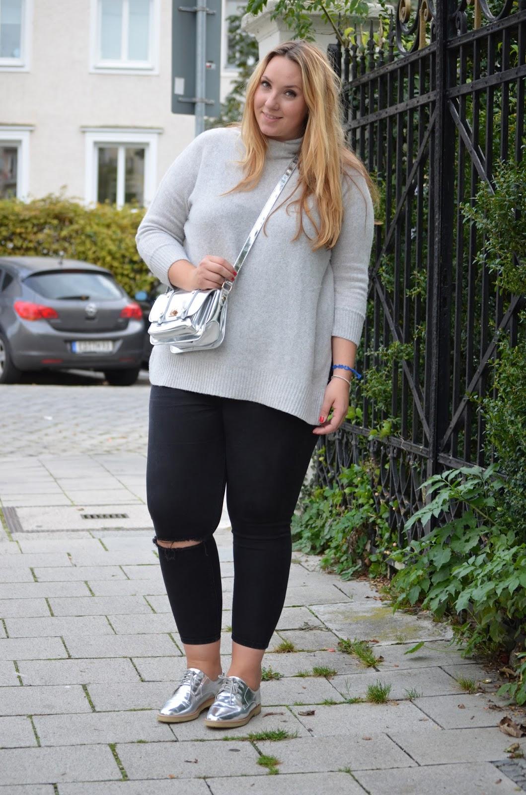 Zara Cashmere Rolli, Cashmere Pullover, Plussize Blogger
