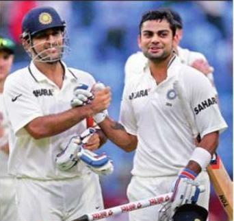 India cricket captain M.S. Dhoni and Virat Kohli