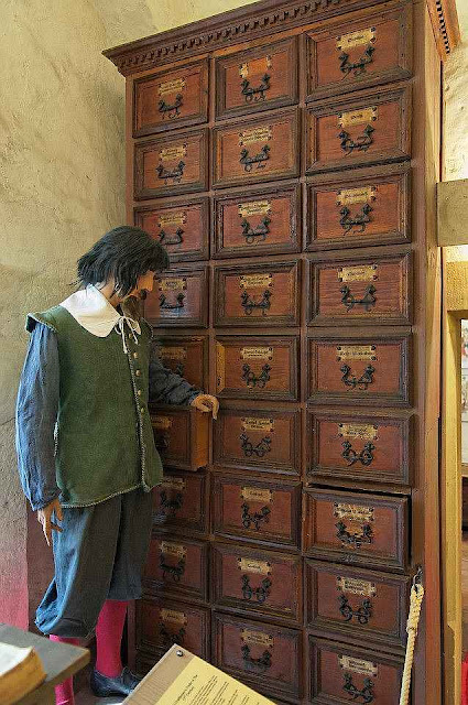 Farmacéutico em Rothenburg ob der Tauber. O povo medieval vivia num nível que não conseguimos imaginar.