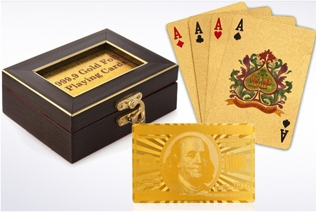 Gold Plated Playing Cards for Rs184 on Groupon