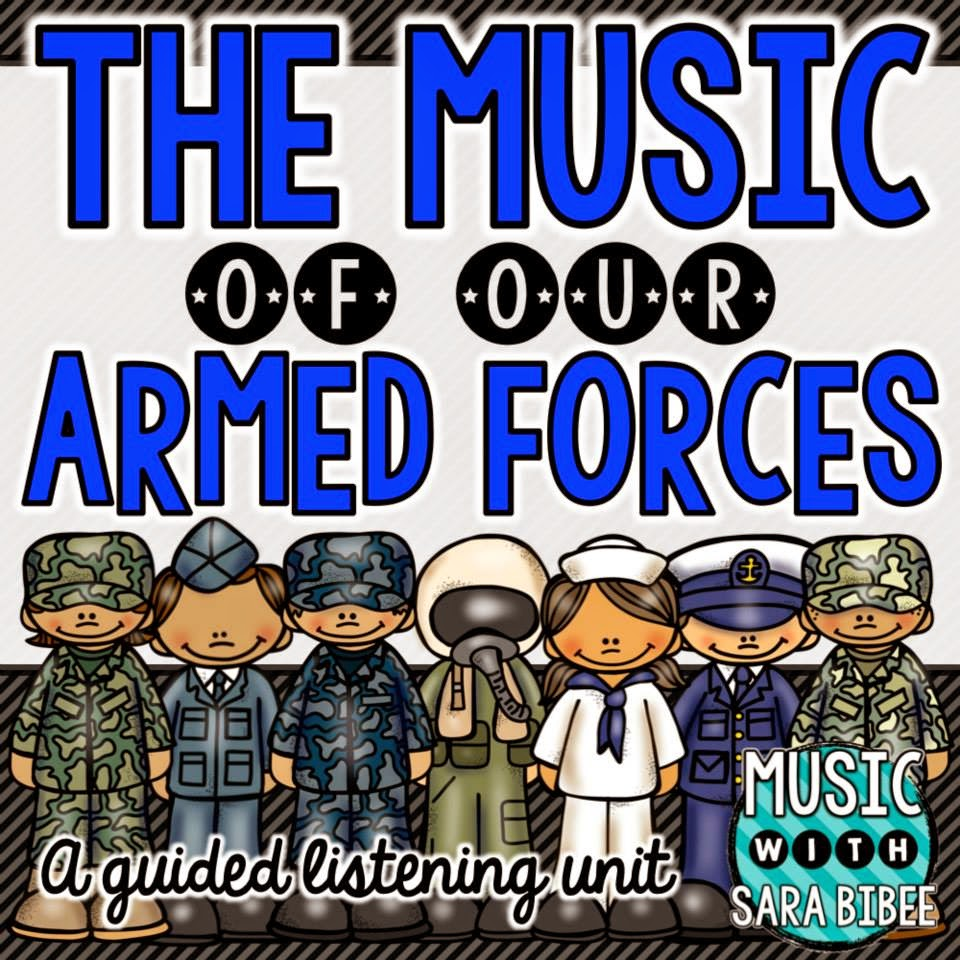 http://www.teacherspayteachers.com/Product/Our-Musical-Armed-Forces-A-Guided-Listening-Unit-1522430