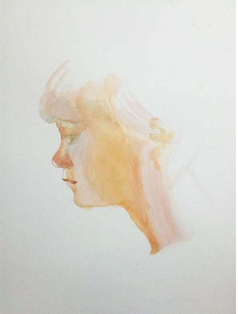 niño pintado en acuarela