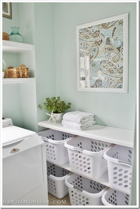Laundry Room Fabric Part - 47: I Think Framing Some Pretty Fabric Would Be Fitting In A Laundry Room:
