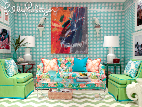 Lilly Pulitzer Inspired Chair