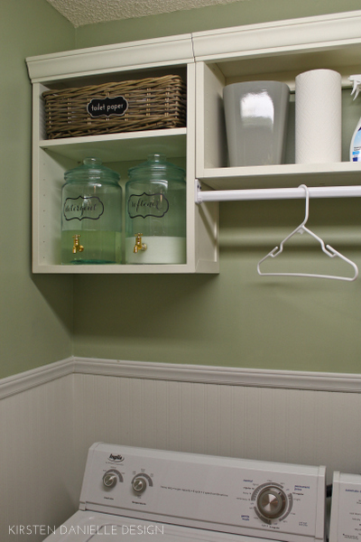 our laundry closet makeover through the front door. Black Bedroom Furniture Sets. Home Design Ideas