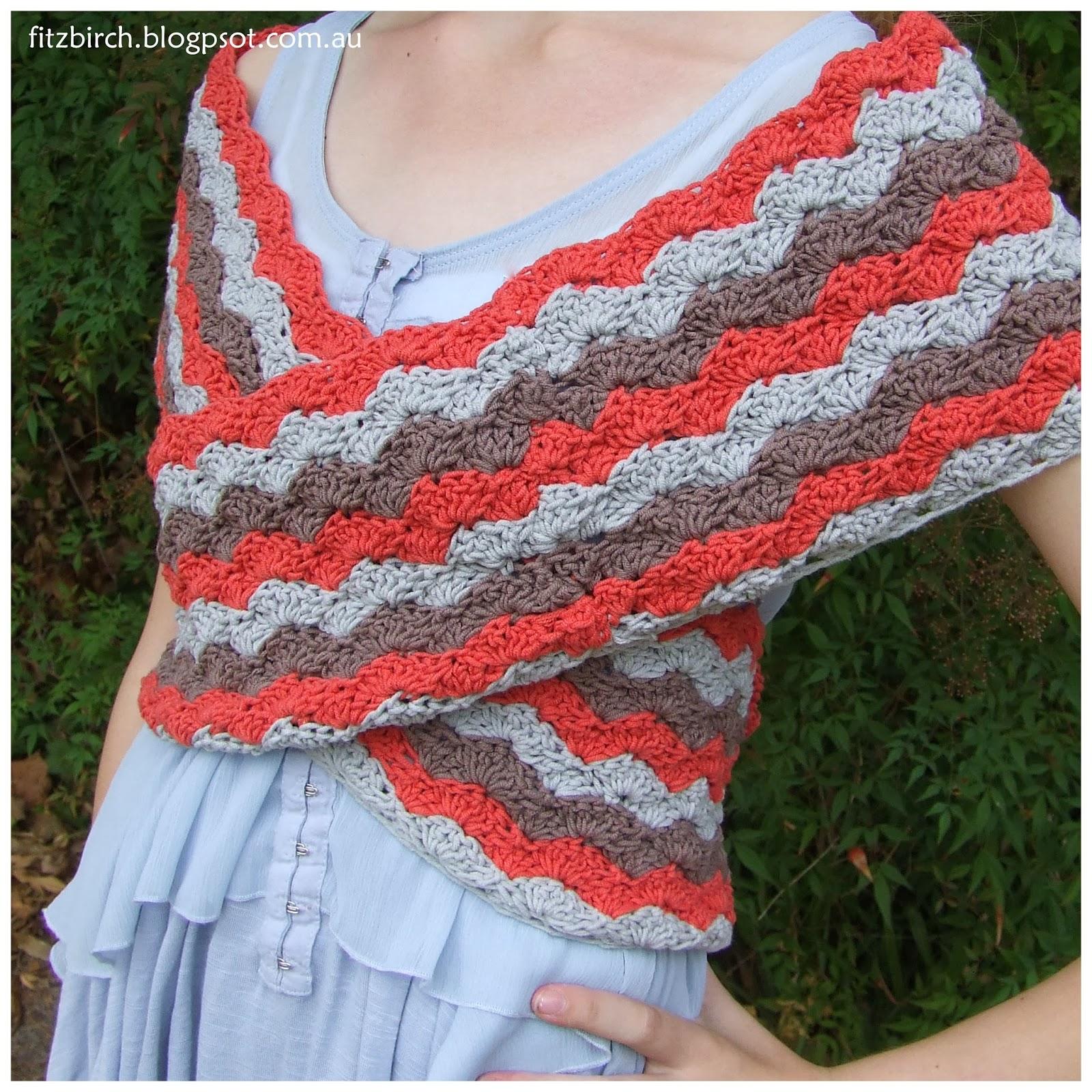 Free Crochet Pattern Ballet Wrap : FitzBirch Crafts: Free Crochet Patterns