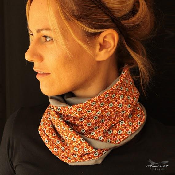 Foxenbergscarves Jersey Orange Floral Scarf For Women