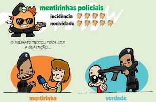 mentiras policiais, quadrinhos