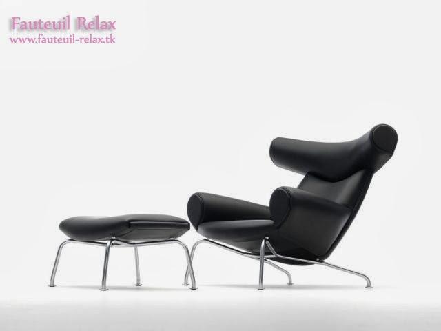 Fauteuil boeuf design scandinave fauteuil relax - Fauteuil design relax ...