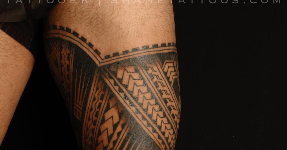 SHANE TATTOOS Polynesian Leg Tatau/Tattoo