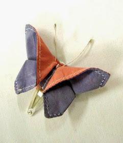 diy clip origami en forma de mariposa