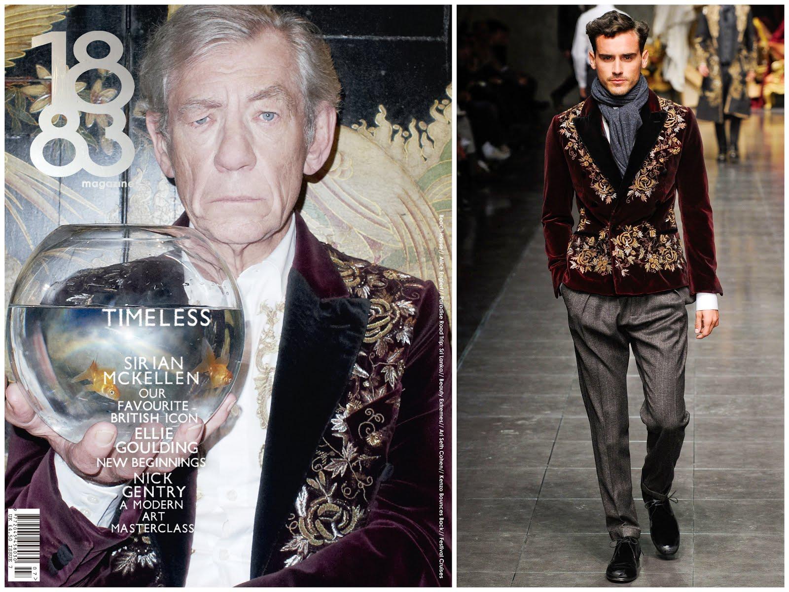 Sir Ian McKellen in Dolce & Gabbana - 1883 Magazine Issue 7