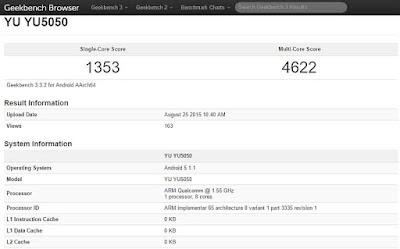 Micromax's Yureka Plus Geekbench score leaked